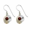 Alpha Phi Color and Cultured Freshwater Pearl Earrings