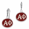 Alpha Phi Enamel CZ Cluster Earrings
