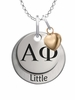 Alpha Phi LITTLE Necklace with Heart Accent