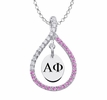 Alpha Phi Pink Figure 8 Necklace