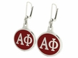 Alpha Phi Silver Sorority Earrings
