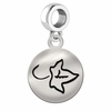 Alpha Phi Sterling Silver Round Drop Charm
