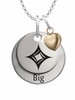 Alpha Sigma Alpha BIG Necklace with Heart Accent