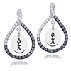 Alpha Sigma Alpha Black and White Figure 8 Earrings