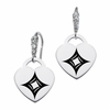 Alpha Sigma Alpha CZ Cluster Heart Earrings