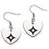 Alpha Sigma Alpha Heart Drop Earrings