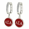 Alpha Sigma Alpha Hoop Earrings