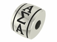 Alpha Sigma Alpha Sorority Barrel Bead