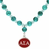 Alpha Sigma Alpha Turquoise Drop Necklace
