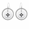 Alpha Sigma Alpha White CZ Circle Earrings