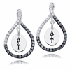 Alpha Sigma Tau Black and White Figure 8 Earrings