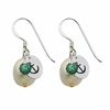 Alpha Sigma Tau Color and Cultured Freshwater Pearl Earrings