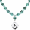 Alpha Sigma Tau Heart and Turquoise Necklace