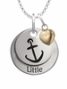 Alpha Sigma Tau LITTLE Necklace with Heart Accent