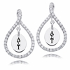 Alpha Sigma Tau White CZ Figure 8 Earrings