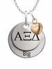 Alpha Xi Delta BIG Necklace with Heart Accent