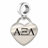 Alpha Xi Delta Heart Drop Charm