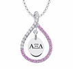 Alpha Xi Delta Pink Figure 8 Necklace