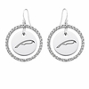 Alpha Xi Delta White CZ Circle Earrings