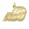 Angelo State Rams 14K Yellow Gold Natural Finish Cut Out Logo Charm