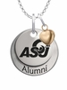 Angelo State Rams Alumni Necklace with Heart Accent