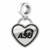 Angelo State Rams Border Heart Dangle Charm