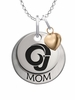 Angelo State Rams MOM Necklace with Heart Charm