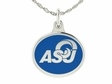 Angelo State Silver Enamel Charm