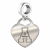 Appalachian State Engraved Heart Dangle Charm