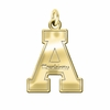 Appalachian State Mountaineers 14K Yellow Gold Natural Finish Cut Out Logo Charm