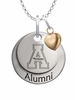 Appalachian State Mountaineers Alumni Necklace with Heart Accent