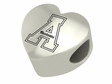 Appalachian State Mountaineers  Heart Shaped Bead