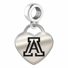Arizona Engraved Heart Dangle Charm