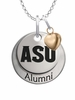 Arizona State Sun Devils Alumni Necklace with Heart Accent