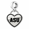 Arizona State Sun Devils Border Heart Dangle Charm