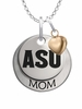 Arizona State Sun Devils MOM Necklace with Heart Charm