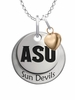 Arizona State Sun Devils with Heart Accent