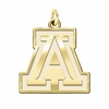 Arizona Wildcats 14K Yellow Gold Natural Finish Cut Out Logo Charm