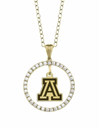 Arizona Wildcats Gold and Diamond Circle Pendant