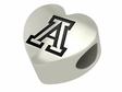 Arizona Wildcats Heart Shaped Bead