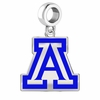 Arizona Wildcats Silver Logo and School Color Drop Charm