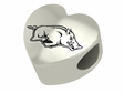 Arkansas Razorbacks  Heart Shape Bead