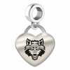 Arkansas State Heart Dangle Charm