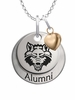 Arkansas State Red Wolves Alumni Necklace with Heart Accent