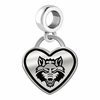 Arkansas State Red Wolves Border Heart Dangle Charm