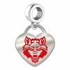 Arkansas State Red Wolves Color Heart Dangle
