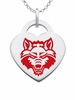 Arkansas State Red Wolves Color Logo Heart Charm