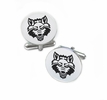 Arkansas State Red Wolves Cufflinks Stainless Steel Round Top