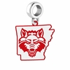 Arkansas State Red Wolves Logo Dangle Charm