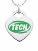 Arkansas Tech Wonder Boys Color Logo Heart Charm